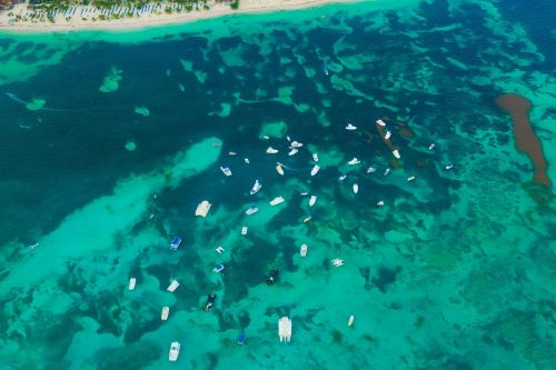 aerial view ocean view boats