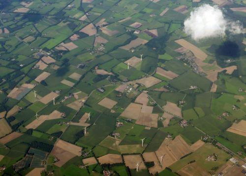 aerial view cloud flight