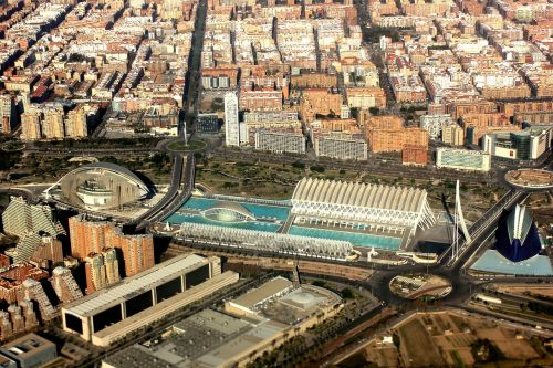 aerial view valence spain