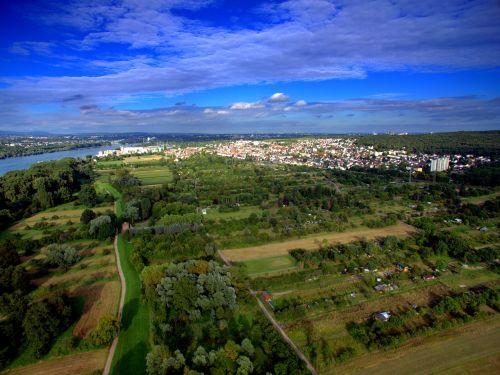 aerial view drone quadcopter