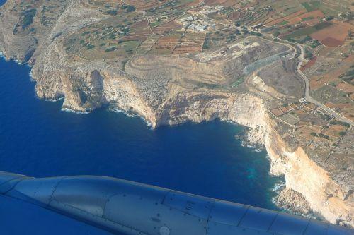 aerial view cliffs dingli cliffs