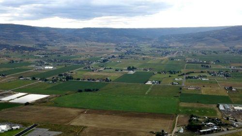 aerial view landscape fields