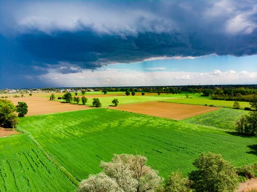 aerial view  drone  clouds