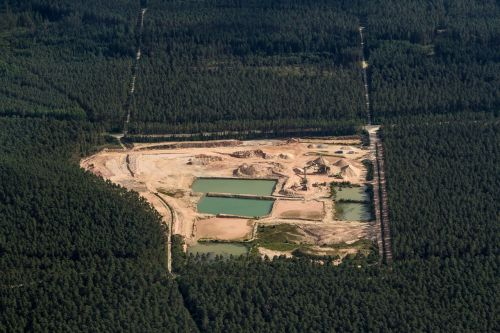 aerial view swiss francs kieswerk