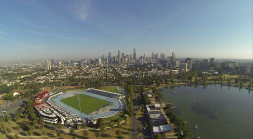 Aerial View Albert Park