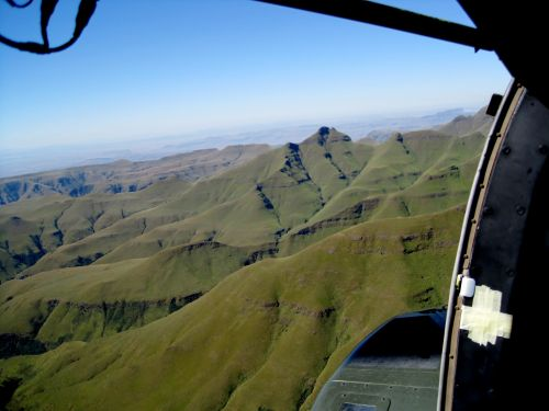 Aerial View, Drakensberg, Kwa-zulu