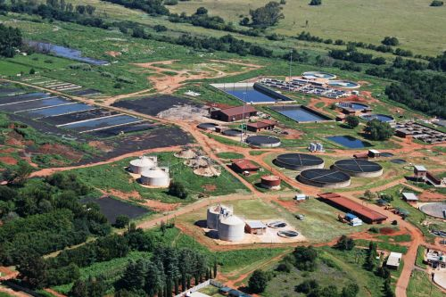 Aerial View Of Sewage Treatment