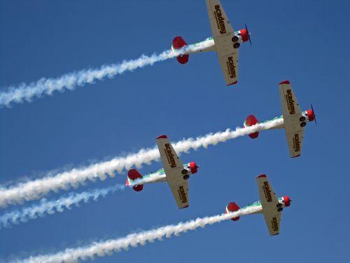 Aerobatic Harvard Team Performing