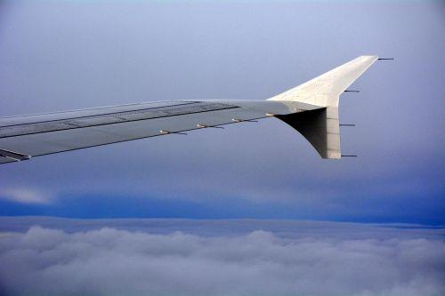 aeroplane blue sky high up