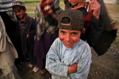afghani child laughing