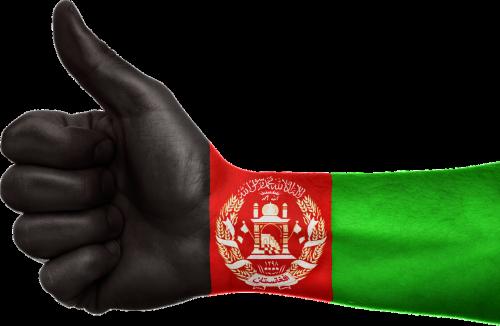 afghanistan hand flag