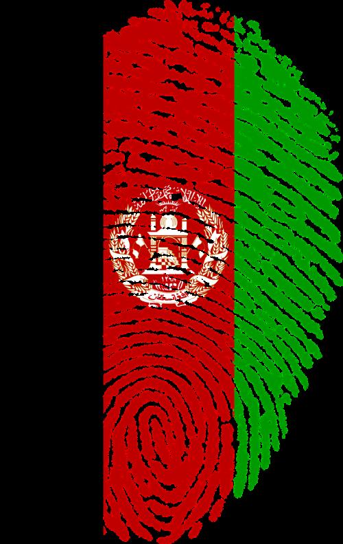 afghanistan flag fingerprint