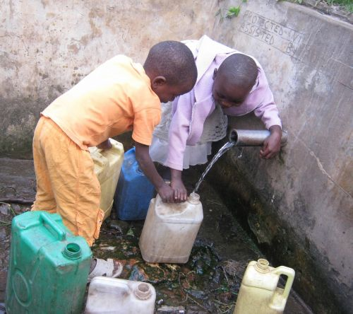africa collecting water water