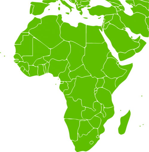 africa continent green