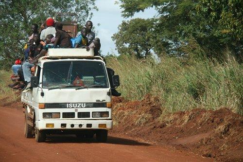 africa  cargo transport  small car