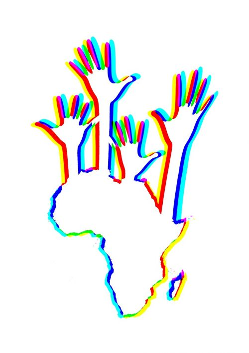 africa continent hands