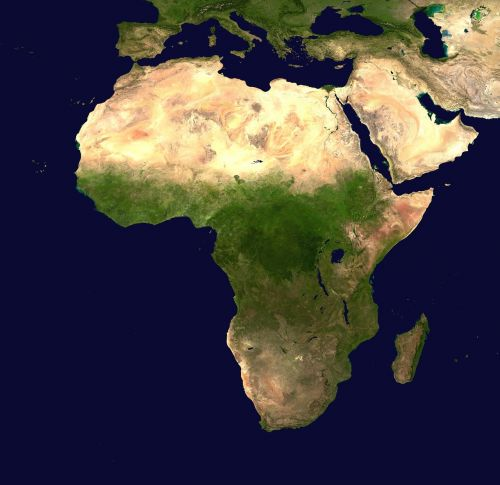 africa continent aerial view