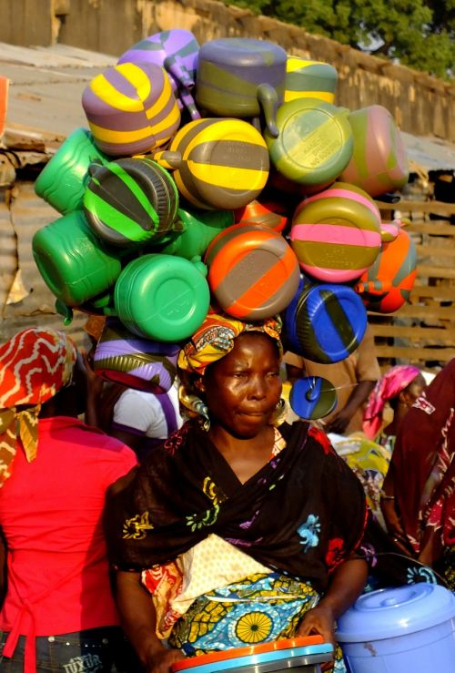 africa african woman saleswoman
