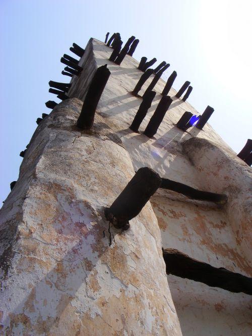 afrika,afrikos architektūra,purvo architektūra,Gana,mečetė