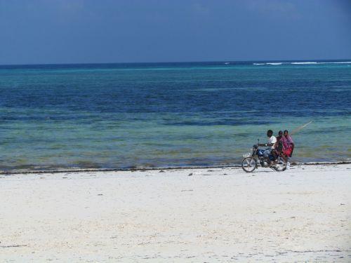 africa moped beach