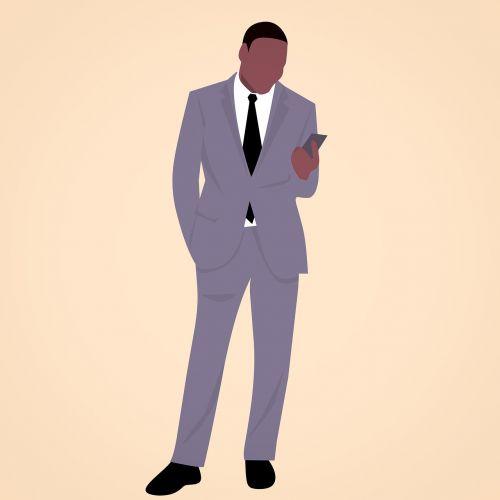 african businessman cartoon character