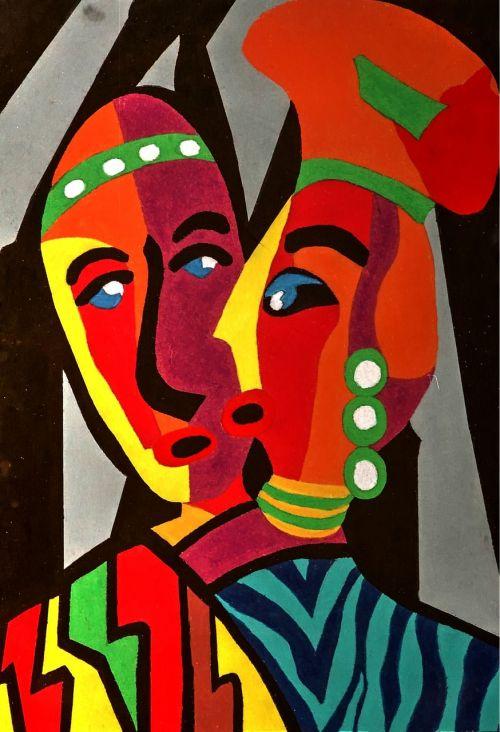 african art bold design