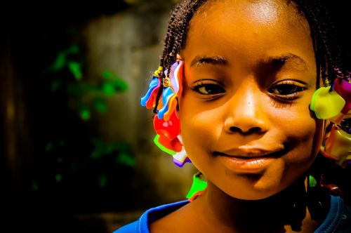 african child innocent beautiful face