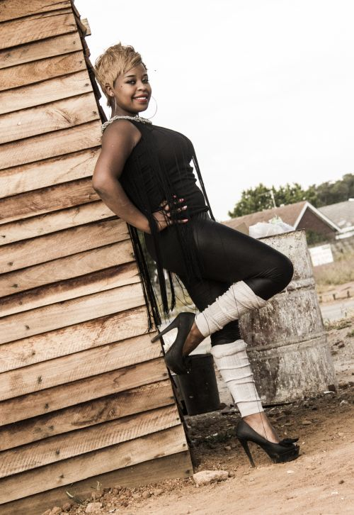 African Lady In Tights