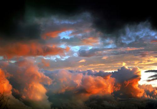 After Tornado Cloudscape