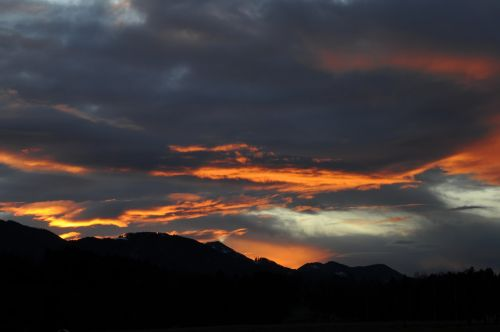 afterglow sunset mountains