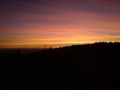 afterglow evening sky sunset