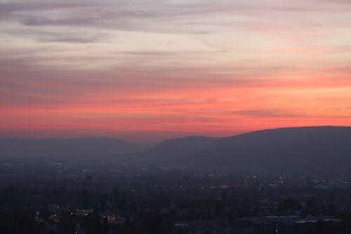afterglow sky sunset