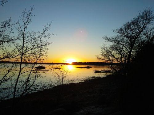 afterglow sunset seascape