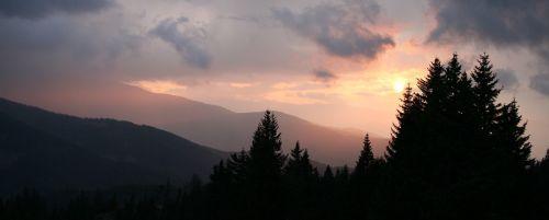 afterglow gewitterstimmung dramatic sky