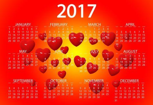 agenda calendar heart