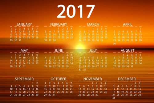 agenda calendar sunset