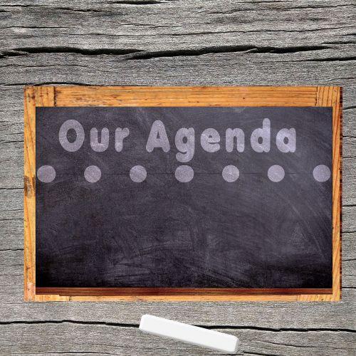 agenda board chalk