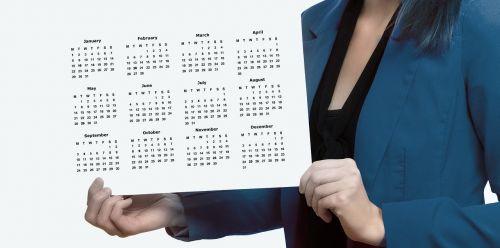 agenda calendar woman