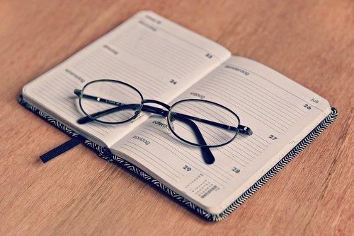 agenda  note book  schedule