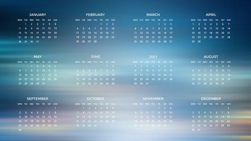 agenda  calendar  2019