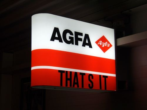 agfa luminous advertising sign