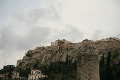 Agora Athens Ruins Parthenon