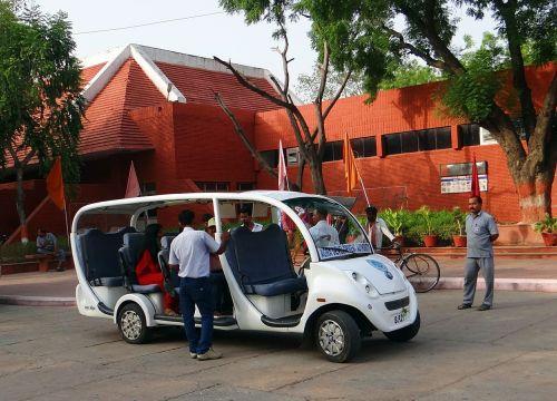 agra electric vehicle taj drop-off