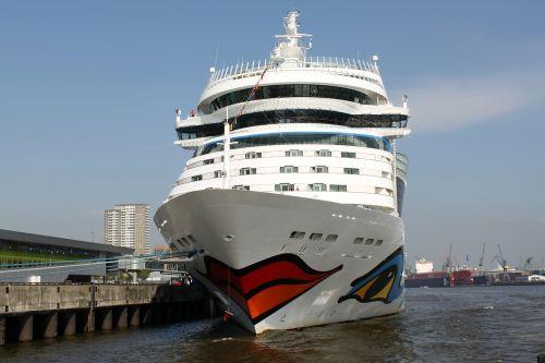 aida ship driving cruise ship