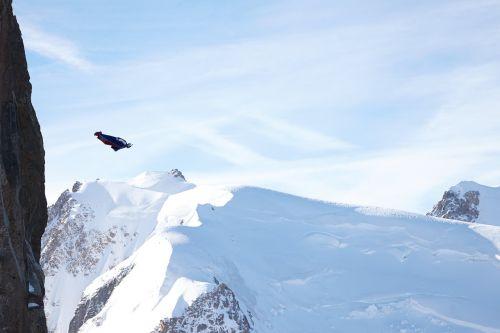 aiguille du midi wingsuit mountains