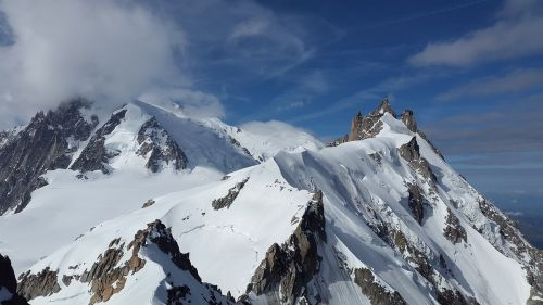 aiguille du midi chamonix high mountains