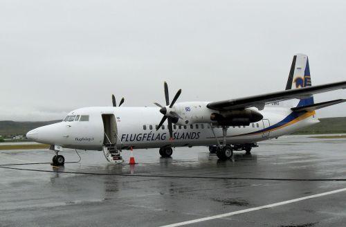 air iceland,Fokker,propelerio plokštuma,iceland,oro uostas,antžeminis aptarnavimas