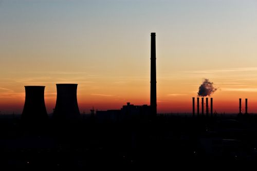 air pollution backlit coal