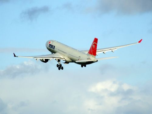 airbus a330 northwest airlines airplane