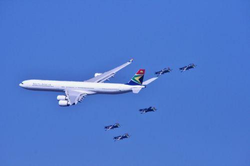 Airbus A340 And Silver Falcon